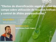 Invitación a seminario dictadoporel prof. Bruno Jaloux de Agrocampus Ouest, Angers